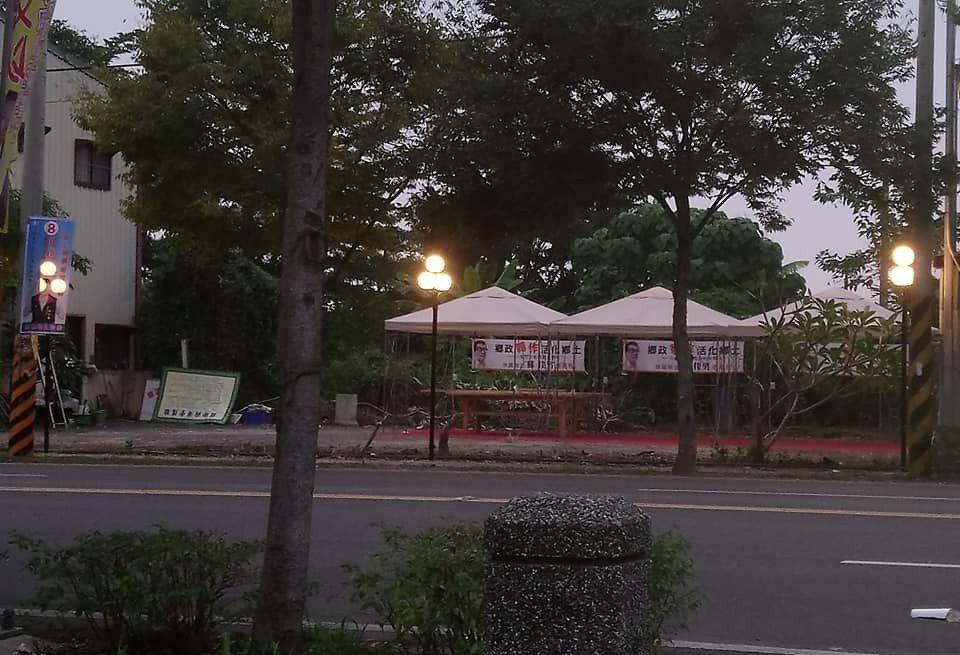 蘇佳男表示競選總部有如庭園咖啡,每晚將辦音樂晚會。圖/蘇佳男提供