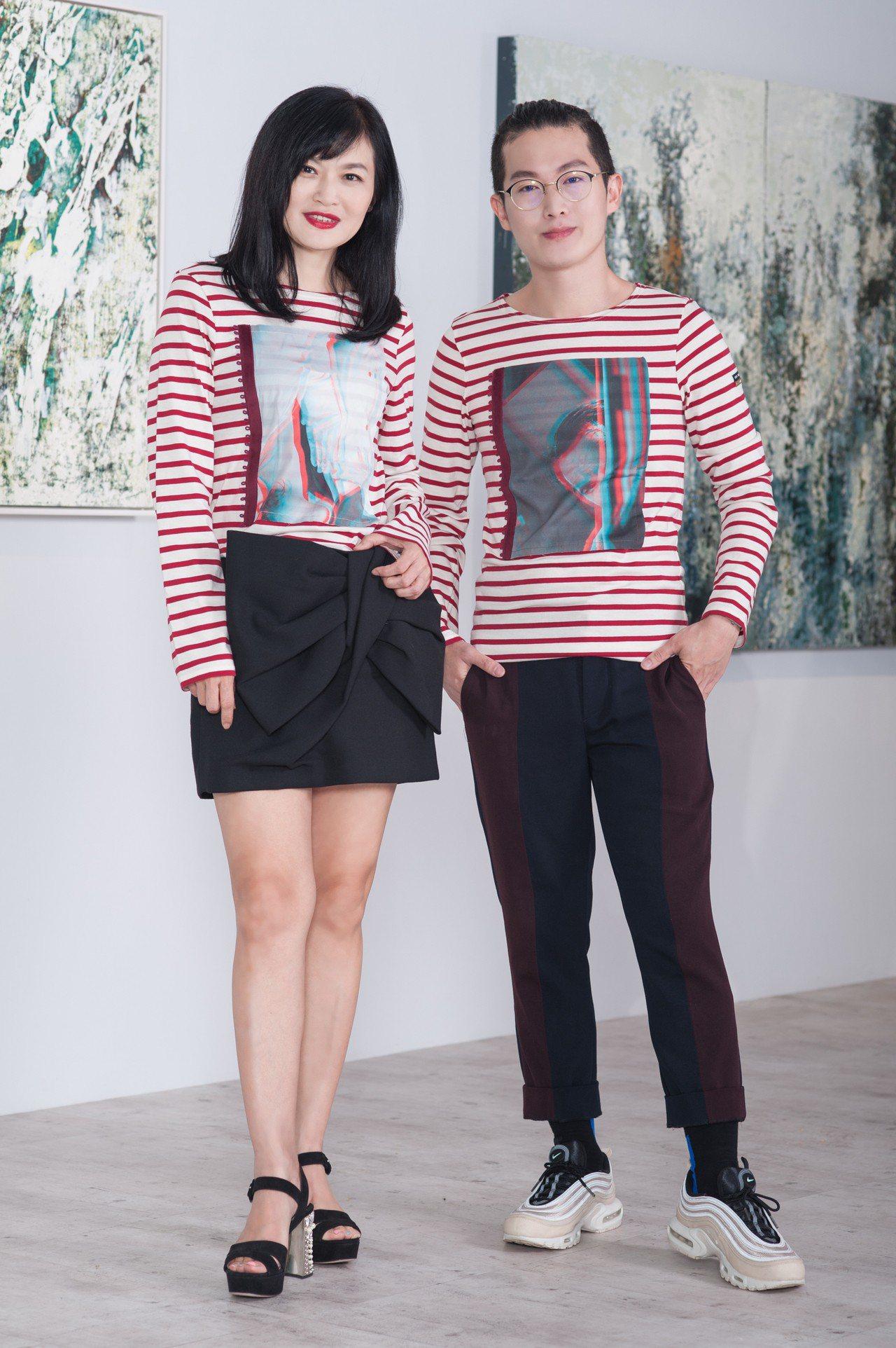 設計師吳日云與母親Selina Tien現身與法國條紋衣Saint James的...