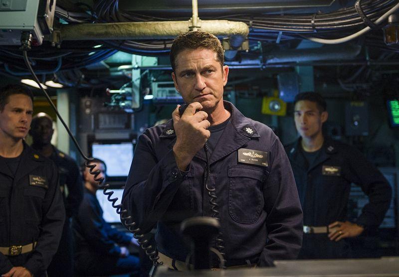 傑瑞德巴特勒在《潛艦獵殺令》飾演臨危受命的美國潛艦艦長。圖/龍祥提供
