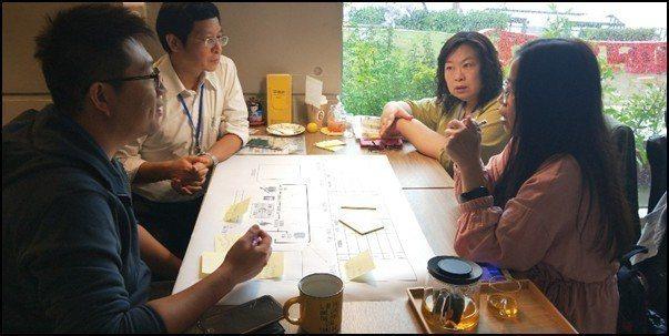 EBI卓越領袖共贏會於青塘園咖啡分組討論「獲利模式藍圖」。 EBI卓越領袖共贏會...