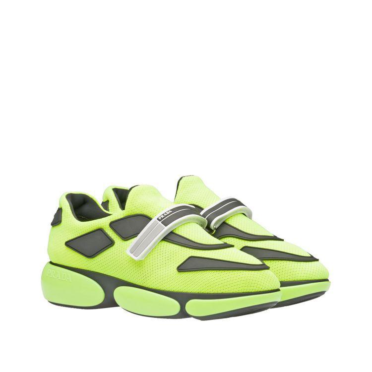 Cloudbust螢光黃休閒鞋(女鞋),28,500元。圖/Prada提供