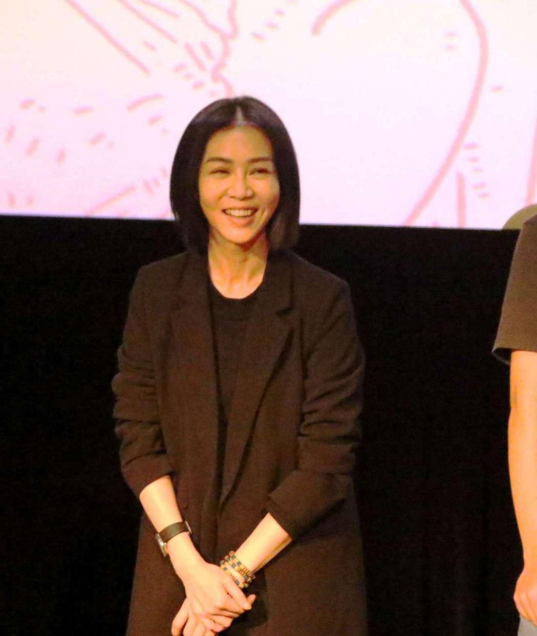 金馬準影后謝盈萱出席「媽媽桌球」映後座談。圖/高雄電影節提供
