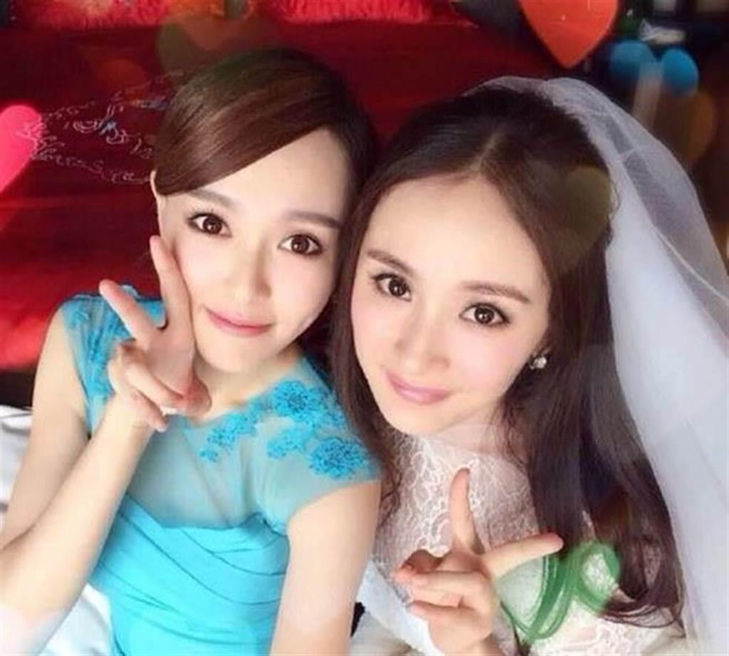 唐嫣(左)與楊冪(右)是多年好友。圖/摘自微博