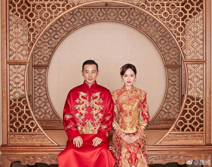 唐嫣(右)宣告嫁給同是演員羅晉(左),並貼出一連串浪漫婚紗照。圖/摘自微博