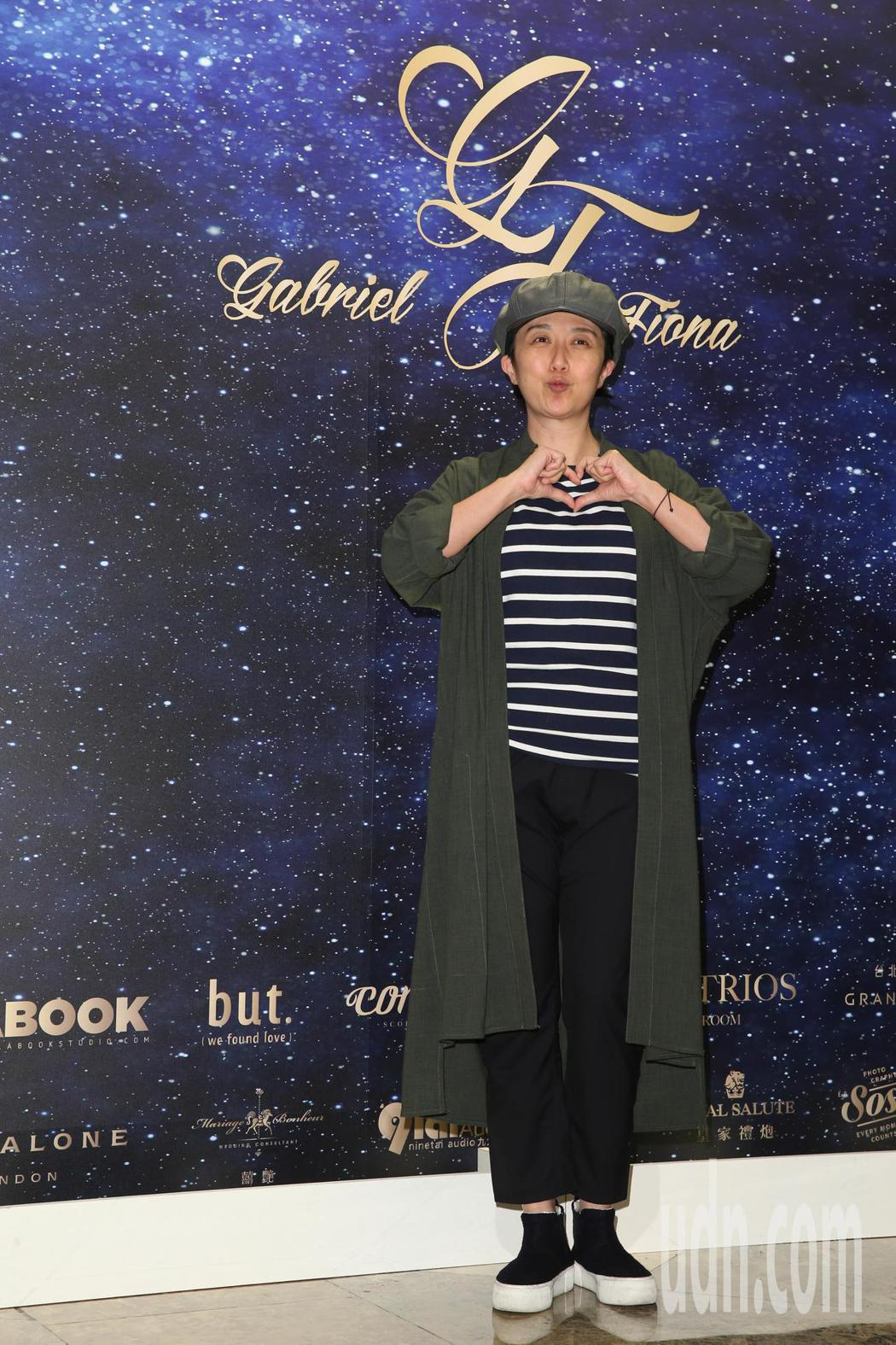 黃韻玲(圖)今天參加藍鈞天與陳羽柔在台北君悅酒店舉辦的婚宴。記者葉信菉/攝影