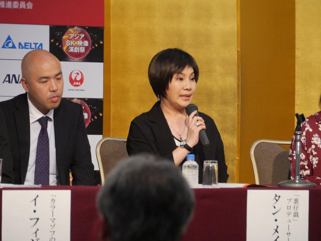 唐美雲赴日本愛媛縣出席「日本8K映像演劇祭」。圖/民視提供