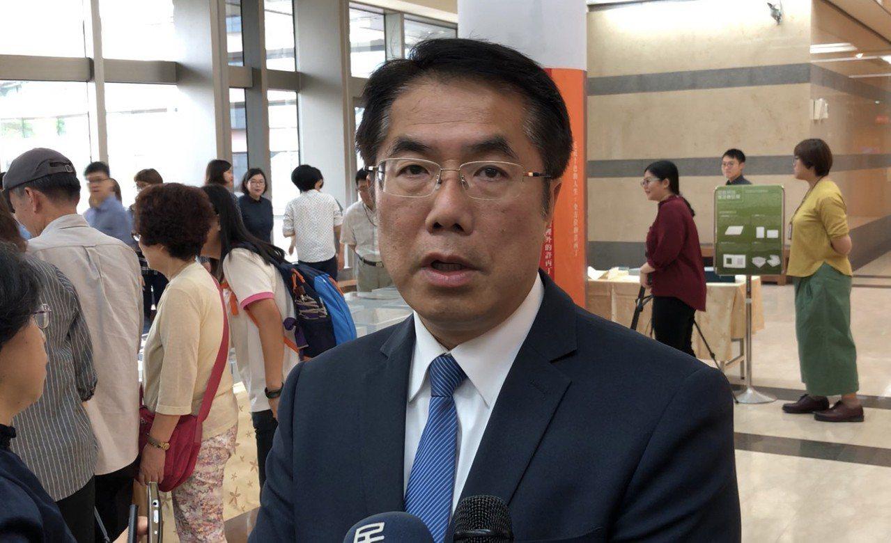 民進黨台南市長參選人黃偉哲。 聯合報系資料照片/記者鄭維真攝影