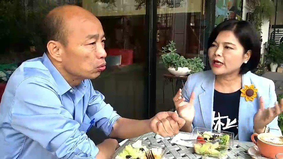 張麗善昨和韓國瑜共進早餐,並邀韓參加11月10日的全國農漁民雲林大會師。圖/張麗...
