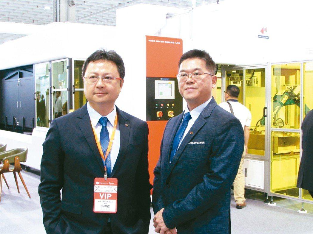 科嶠工業總經理吳明致(左)、 副總經理林豐正。 翁永全/攝影