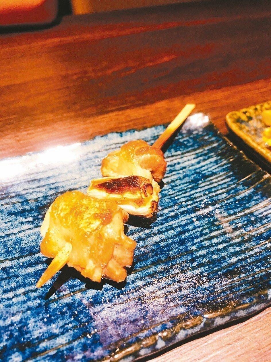 沈嘉業經營「吟風炭火料理」,秉持「最好的食材、最簡單的料理」原則,桂月雞腿日本大...