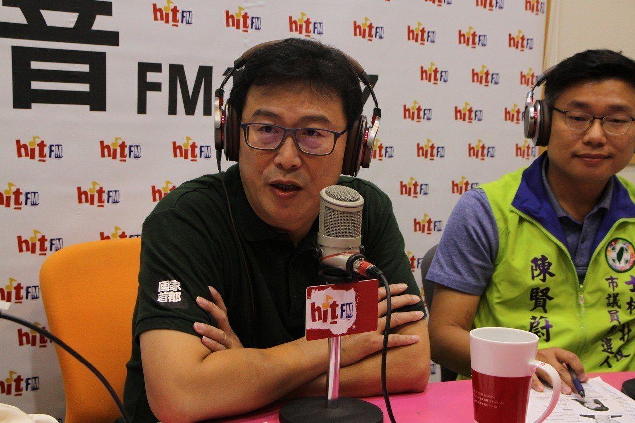 綠營台北市長候選人姚文智今早接受電台訪問。 圖/Hit Fm《蔻蔻早餐》提供