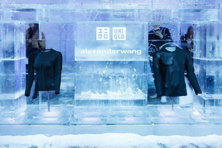 曼哈頓的展示會現場佈置採用與主視覺一致的冰封風格,呈現HEATTECH的絕佳機能...