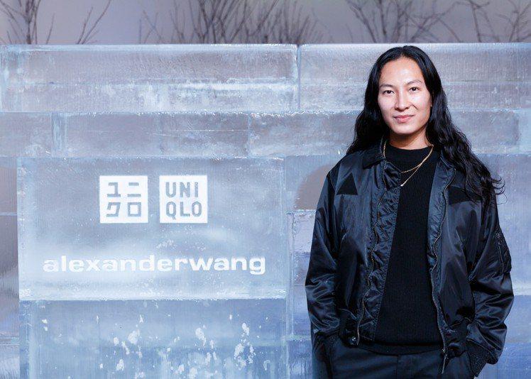 設計師ALEXANDER WANG現身與UNIQLO聯名系列發表會。圖/UNIQ...