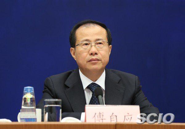 大陸商務部國際貿易談判代表兼副部長傅自應。國務院新聞辦公室