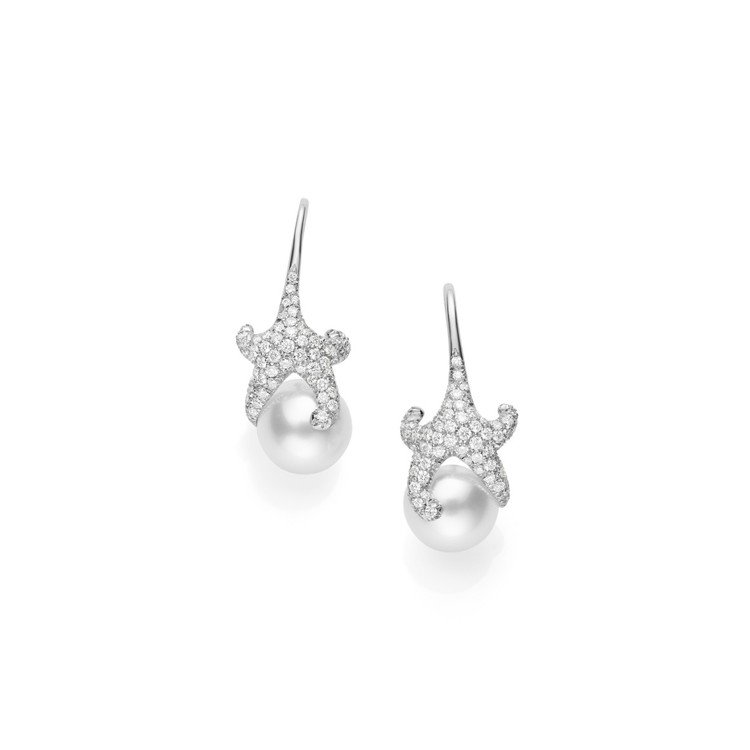 迪麗熱巴配戴的MIKIMOTO Milano Collection 南洋珍珠鑽石...