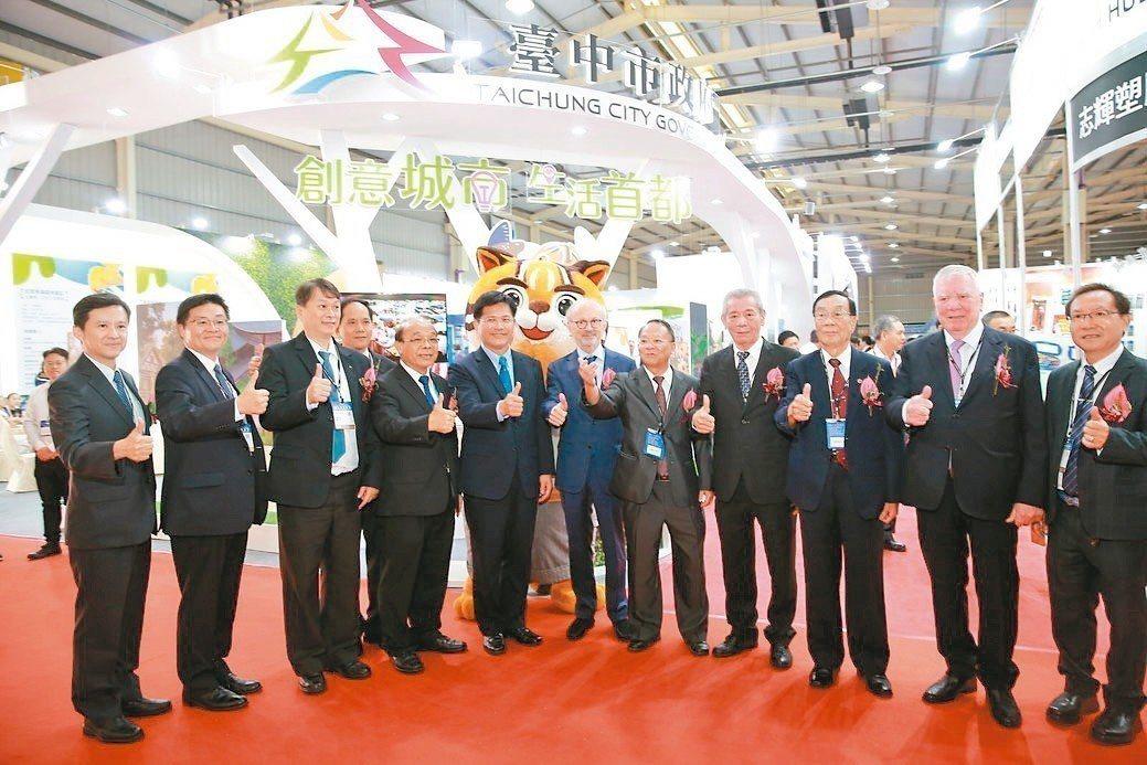 THS 2018計有425家國內外廠商參加,吸引超過85國國際買主來訪。臺中市長...
