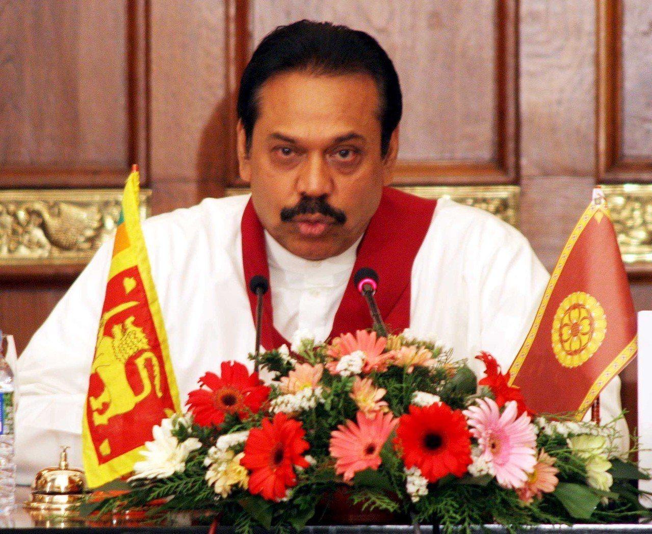 斯里蘭卡前總統拉賈帕克薩26日回鍋繼位,成為總理。 歐新社