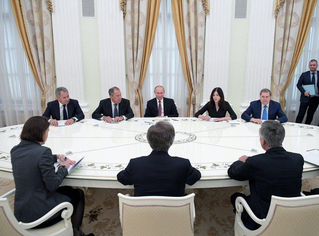 普丁曾宣告,俄國不會率先攻擊,但已準備好,消滅任何使用核武的襲擊者。圖為日前俄國...