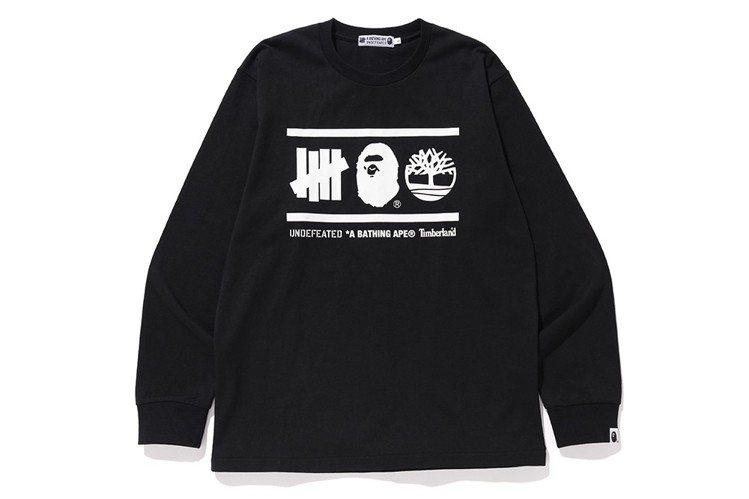 BAPE、Timberland和UNDEFEATED三方聯名系列,長袖T恤3,5...