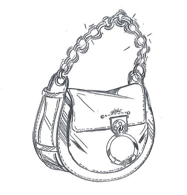 唐嫣Tess手袋設計圖。圖/Chloé提供