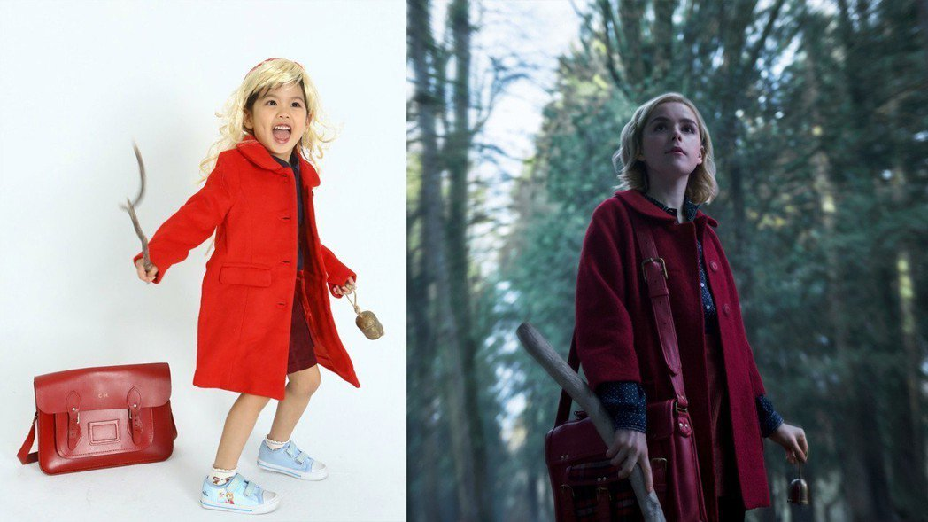 只要帶上金色假髮,穿上紅色大衣、書包,就能簡單變裝「莎賓娜的戰慄冒險」主角莎賓娜...
