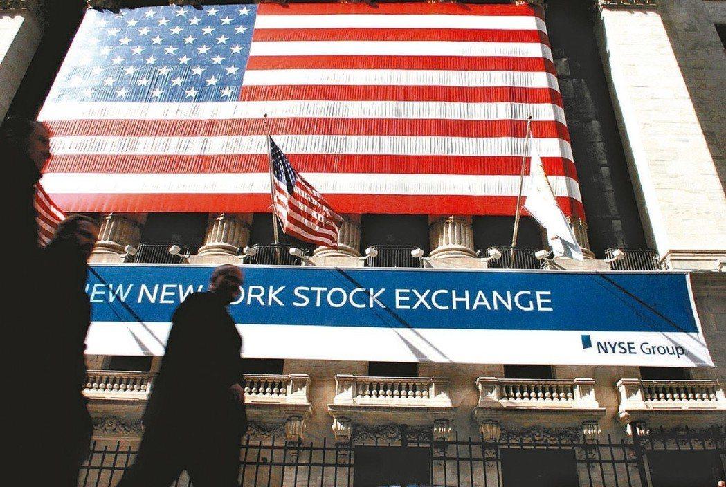 美股接連兩個月走勢震盪。 本報系資料庫