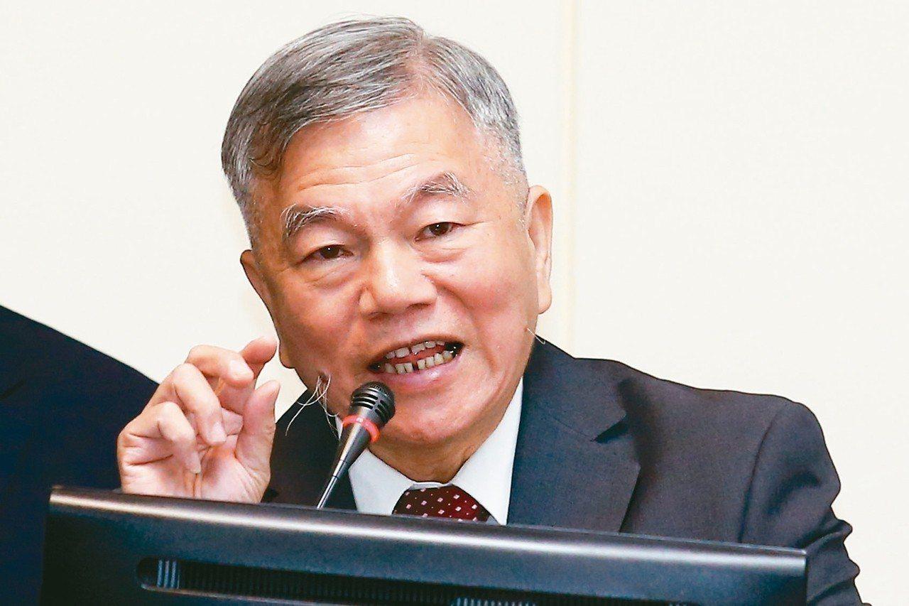 經濟部長沈榮津。 記者王騰毅/攝影