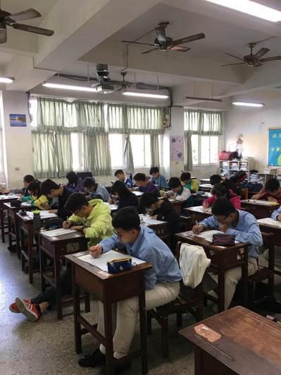 九九文教基金會主辦的全國國中數學競賽(JHMC)12月15日舉行。圖/九九文教基金會提供