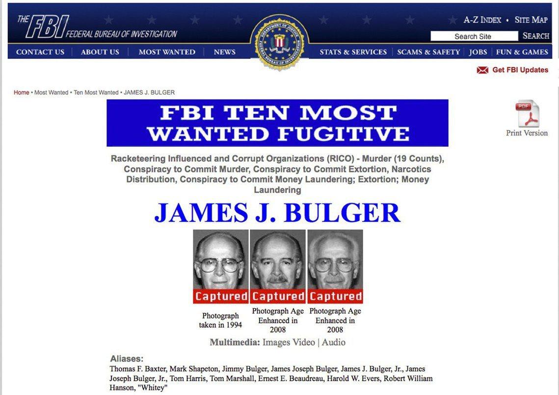 1994年開始遭到波士頓警方的調查,同年的12月23日,巴爾傑為躲避FBI的追擊...