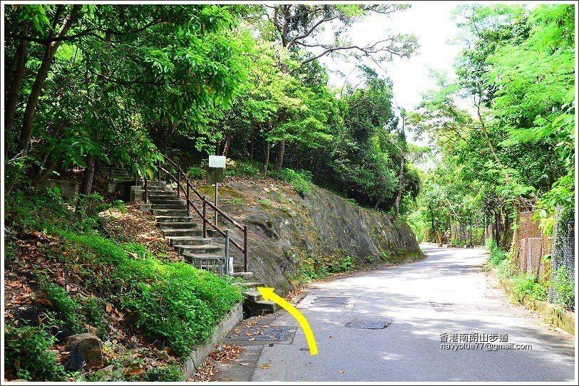 南朗山步道入口。