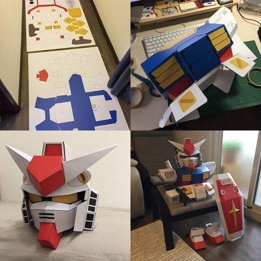 設計師爸媽製作萬聖節鋼彈套裝,過程讓網友超佩服 圖片來源/鋼彈爸媽授權使用
