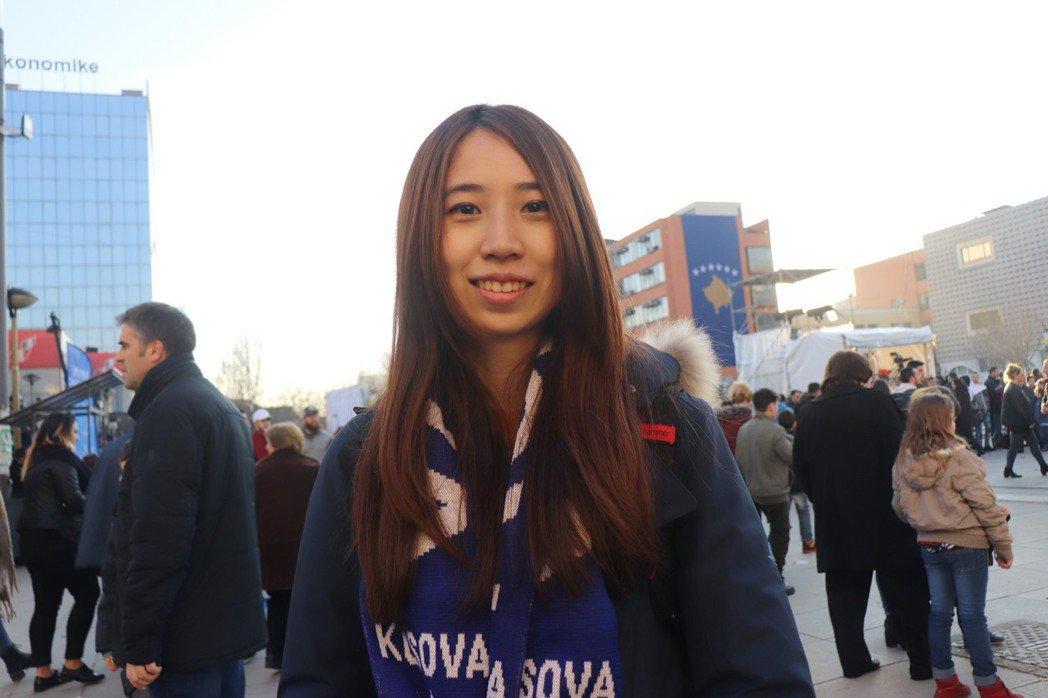 郭家佑參與科索沃獨立10周年活動。圖/郭家佑提供