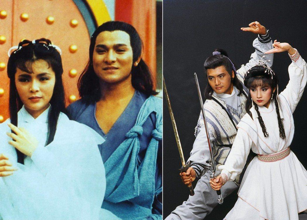 左圖為1983年香港版《神鵰俠侶》的楊過(劉德華)與小龍女(陳玉蓮),右圖是19...