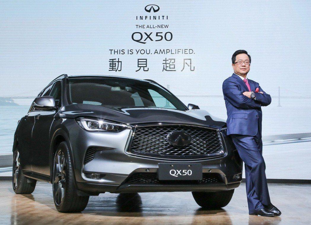 裕隆日產總經理李振成宣布 INFINITI 全新極智夢想休旅 QX50,以188...