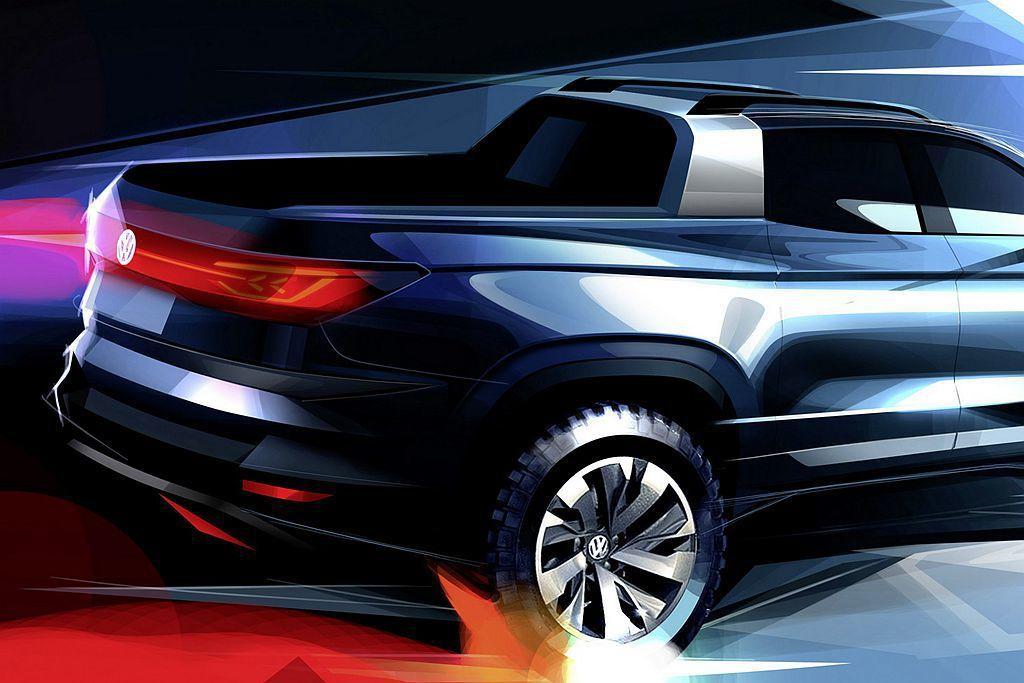 福斯汽車表示,Extraordinary Pickup概念車透過特殊設計的隔板設...