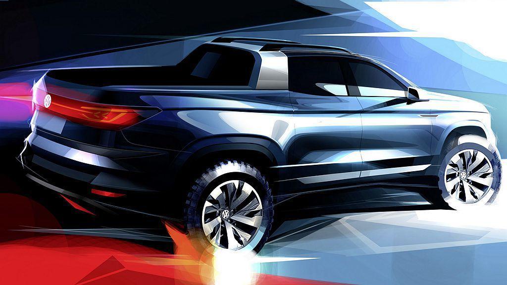 即將到來的巴西聖保羅國際車展,福斯預告將推出嶄新皮卡概念車。 圖/Volkswagen提供