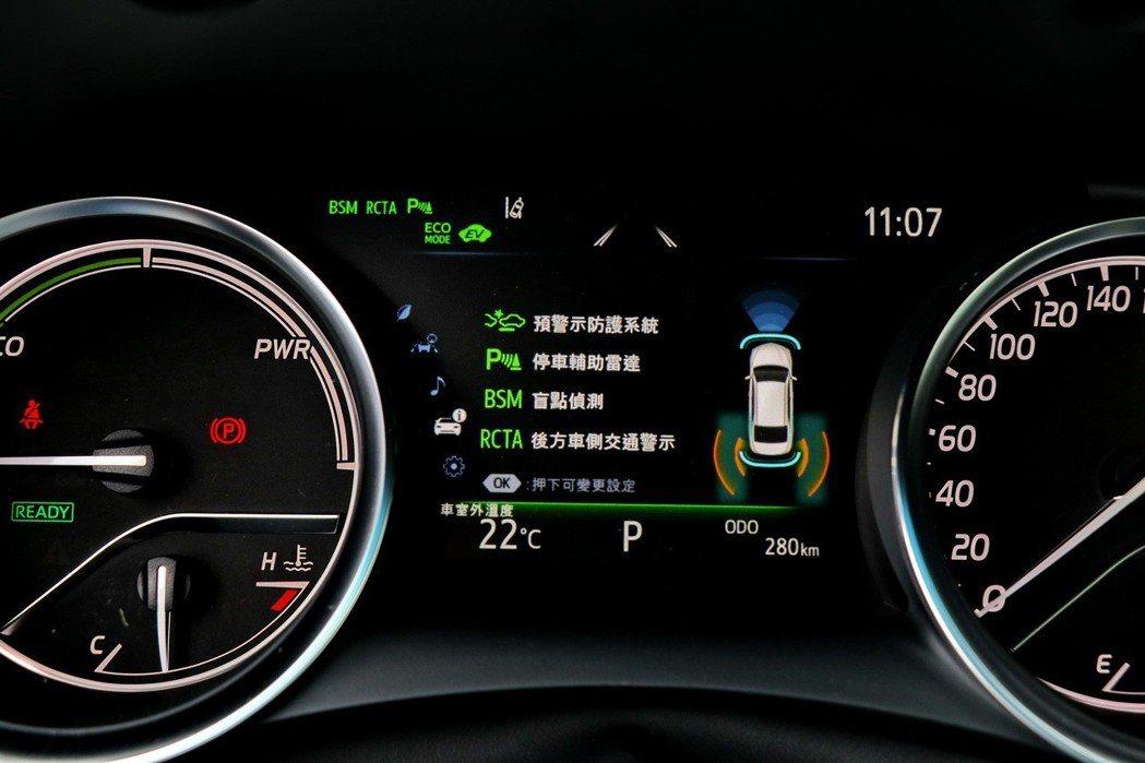 標配Toyota Safety Sense主動式安全防護系統。 記者陳威任/攝影