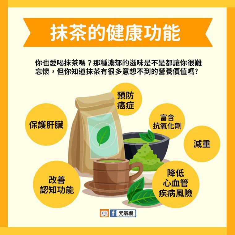 抹茶可能有很多你意想不到的健康功能。製圖/黃琬淑