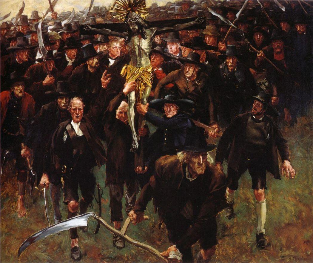 愛鄉愛土、信仰虔誠的「黑潮」席捲地方各邦。圖為奧地利畫家阿爾賓.艾格–利恩茨(A...