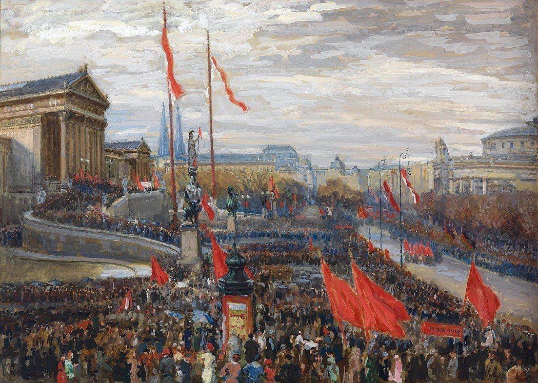「民族自決」對於立國之初的奧地來說,是禮物也是毒藥?圖為奧地利畫家柯諾帕(Rud...