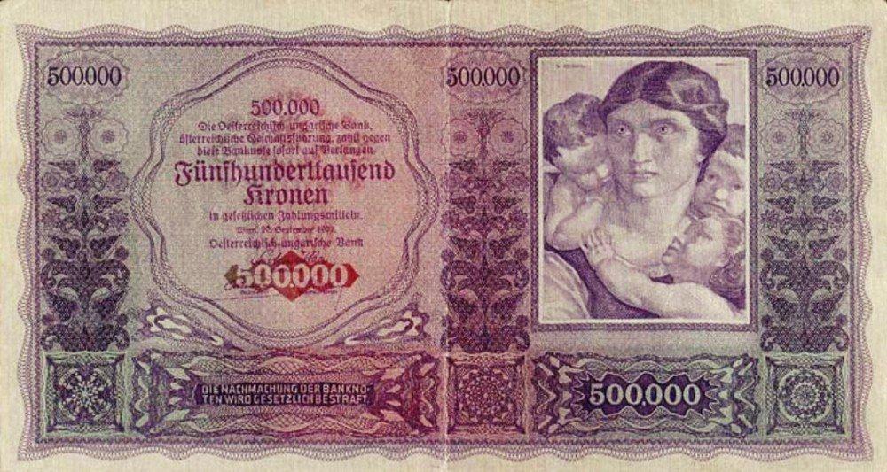 捷克與南斯拉夫另造新貨幣,奧地利無法繼續再以帝國克朗向鄰國購買物資,只得跟著發行...