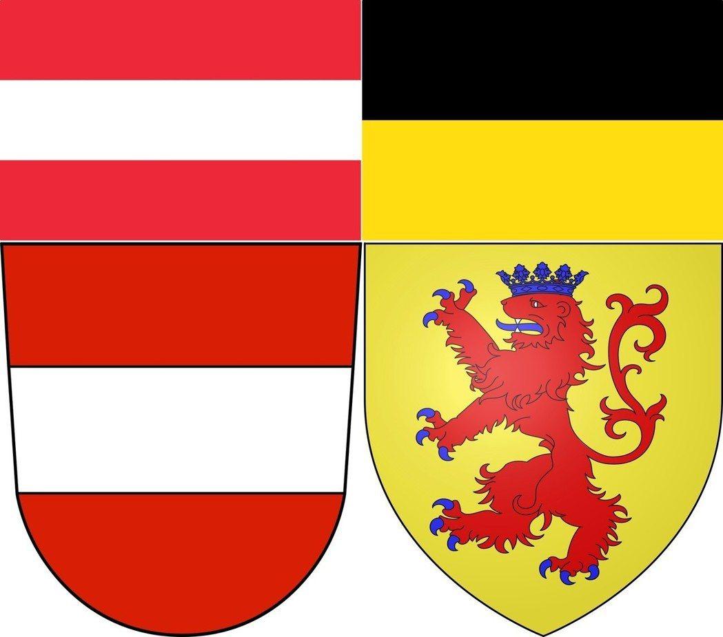 與哈布斯堡黃金切割。第一共和之所以選擇巴奔堡王朝的紅白紅旗為國旗(圖左),正是要...