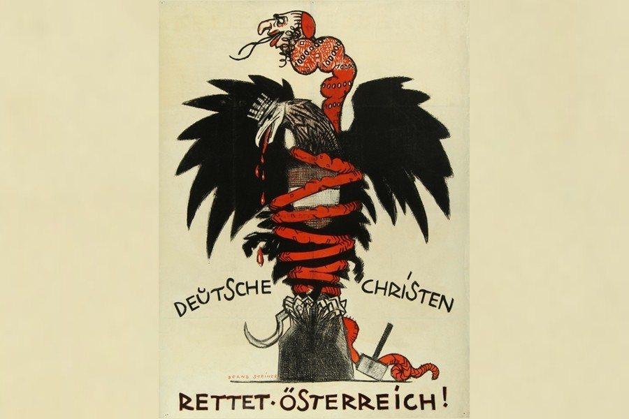 1920年6月選戰,基社黨繼續煽動反猶主義、並聲討社民黨為「摧毀基督教家庭」的極...