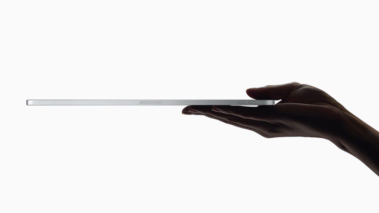 新一代iPad Pro機身厚度僅有5.9mm。圖/摘自Apple官網