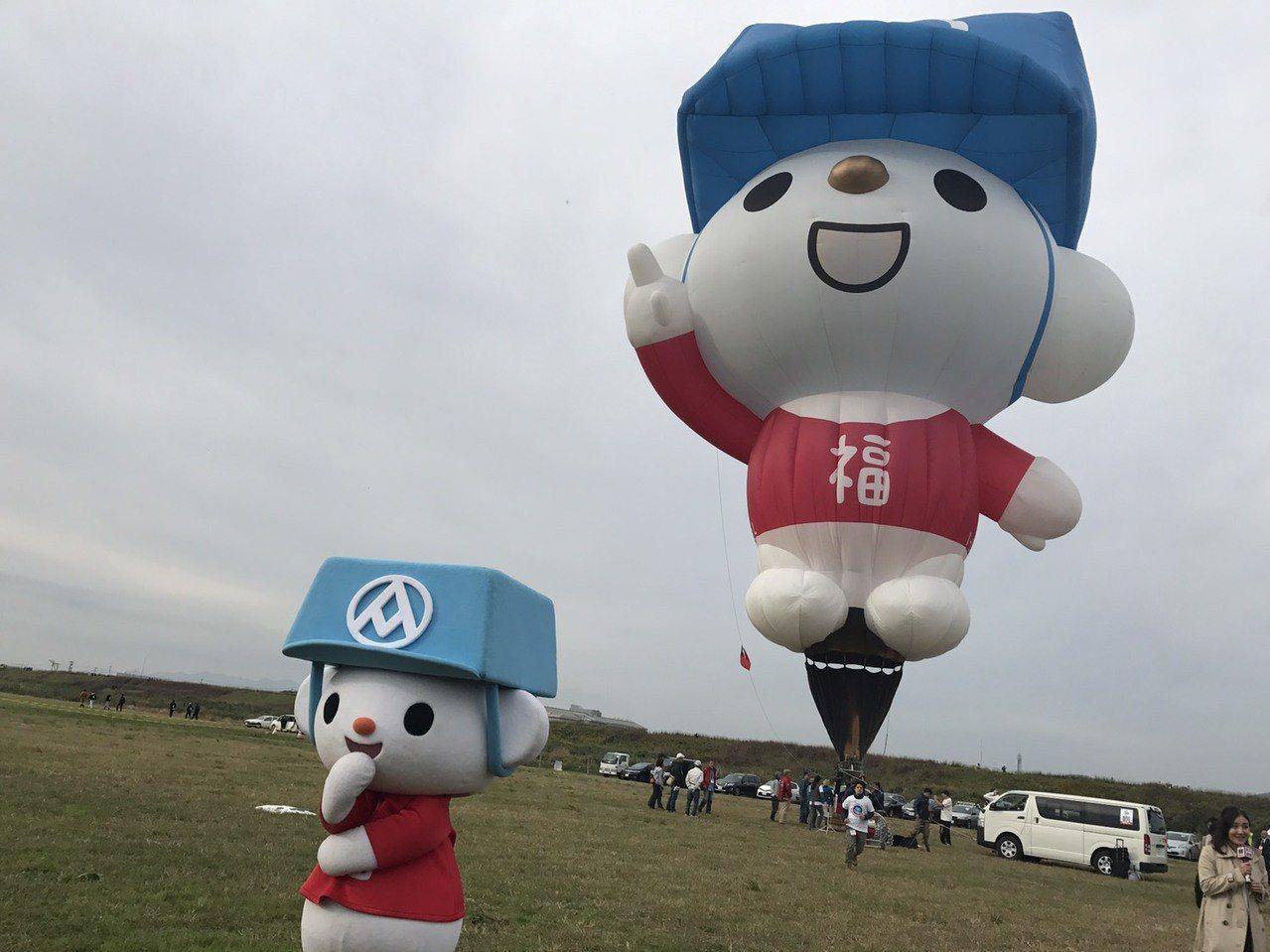 全聯福利熊和全聯福利熊熱氣球,成為今年日本佐賀熱氣球節的亮眼新星。 記者葉卉軒/...