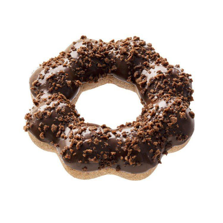 餅乾可可波堤,苦甜黑巧克力沾醬包裹Q彈巧克力波堤,外層還有餅乾的脆脆口感,入口層...