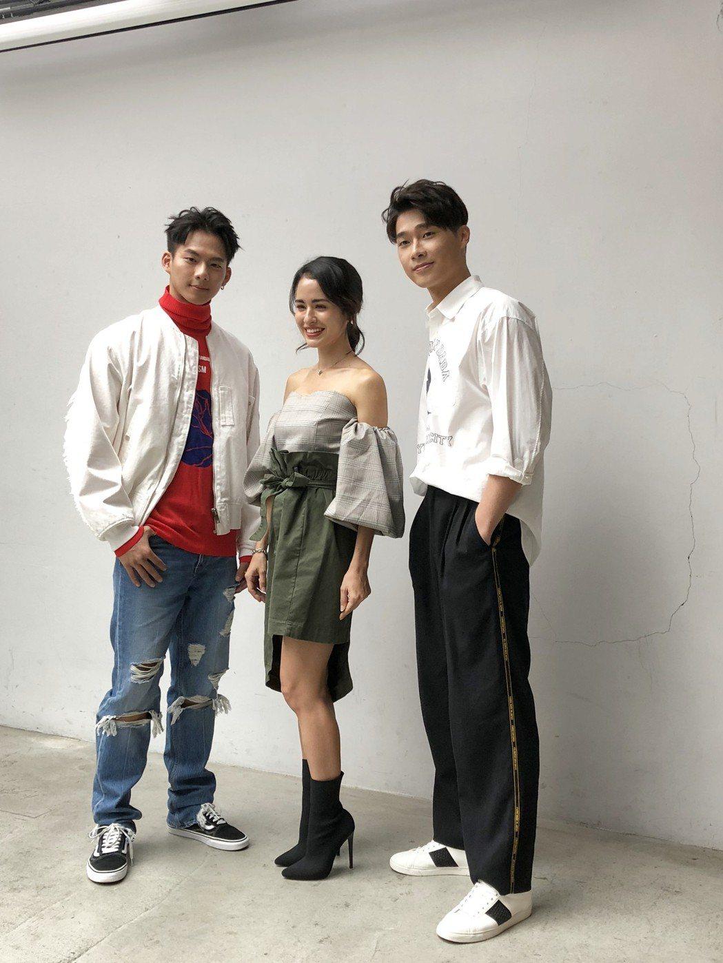 吳念軒(左起)、雷艾美、宋緯恩出身於「華流之星」。記者林士傑/攝影