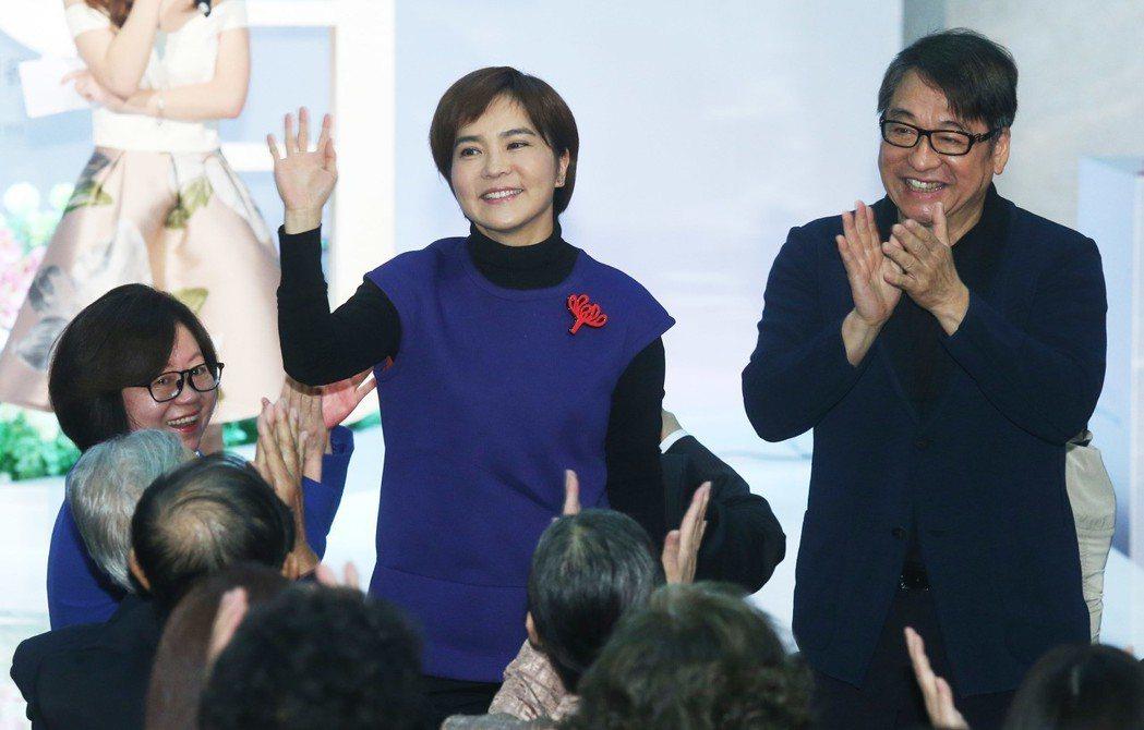 華視慶47周年台慶,李濤(右起)、李艷秋重返老東家。記者林俊良/攝影