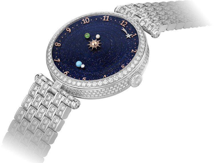 Lady Arpels Planétarium自動上鍊腕表,38毫米白 K 金...