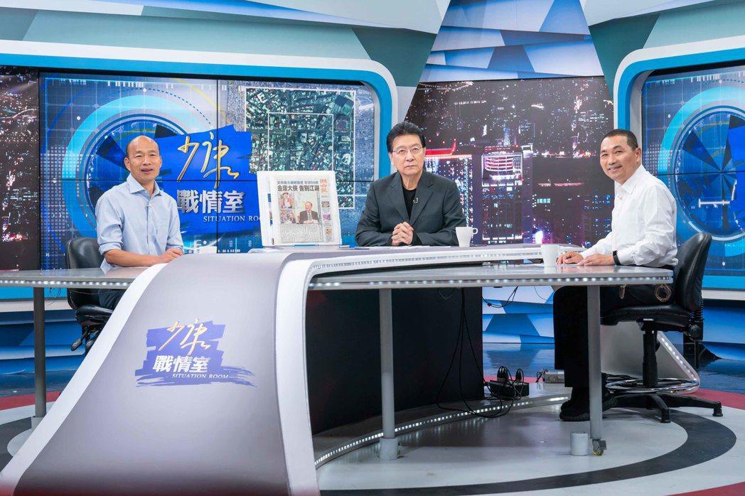 韓國瑜(左)和侯友宜(右)上TVBS「少康戰情室」。圖/TVBS提供